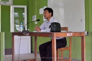 Dr. Cung Lian Hup teaching at M.I.T.